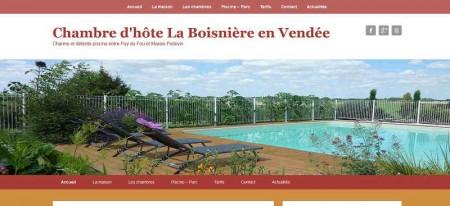 Webmaster en référencement web en Vendée et création site internet de chambre d'hôte