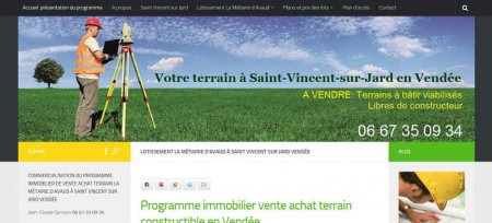 Agence référencement web en Vendée et création site internet pour terrain immobilier Vendée