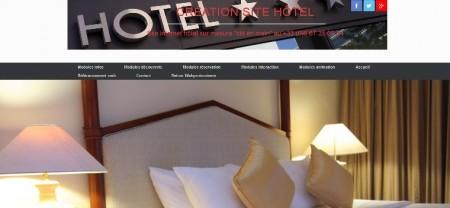 Net entreprise et communication web par la création de site internet pour hôtel