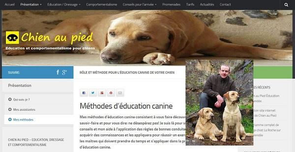 Site web de Chien-au-Pied réalisé par Jean-Claude Samson