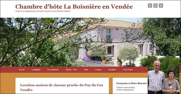 Françoise et Marc Ruscart Chambre d'hôte La Boisnière Vendée