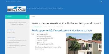 Création et animation d'un blog pour Bertrand Milon Conseiller en investissement immobilier