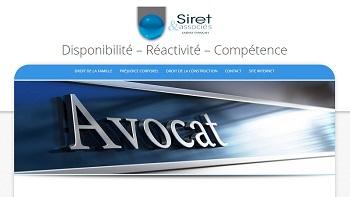 Création et animation d'un blog pour le Cabinet d'avocat Siret
